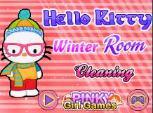 Hello Kitty Winter Room Cleaning