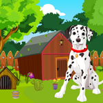 G4K Cute Dalmatian Dog Rescue Game