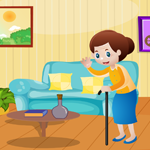Cute grandmother rescue game