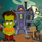 G4K Cute Green Zombie Rescue Game