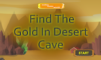 OnlineGamezWorld Find the Gold in Desert Cave