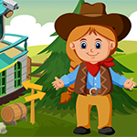 G4K Cute Little Cowgirl Escape