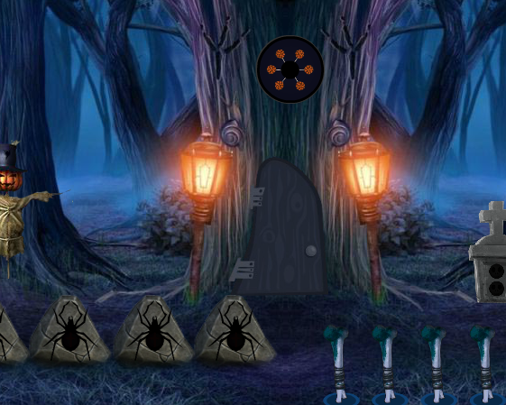 8BGames Halloween Treehouse Escape