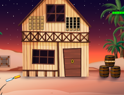G2J Desert Wooden House Escape