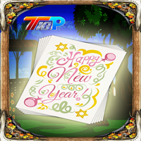 New Year Find The Greeting Card