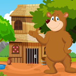 Games4King Cute Brown Bear Rescue