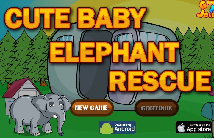 Games2Jolly Cute Baby Elephant Rescue
