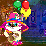 G4K Escape Cat With Balloon Game